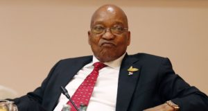 epa06262901 (FILE) - South African President Jacob Zuma during the G20 leaders retreat as part of the G20 summit in Hamburg, Germany, 07 July 2017 (reissued 13 October 2017). The South African Supreme Court of Appeal on 13 October 2017 ruled that South African President Zuma can be prosecuted over some 800 corruption charges. The charges relate to an arms deal dating to 1990.  EPA/FRIEDEMANN VOGEL/POOL *** Local Caption *** 53632035