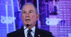 epa06215394 Bloomberg founder and former NYC Mayor Michael A. Bloomberg speaks at the opening of the inaugural Bloomberg Global Business Forum at the Plaza Hotel in New York, New York, USA, 20 September 2017. The forum will feature more than 50 heads of state and 250 international CEOs as it is held on the sidelines of the ongoing nearby General Debate of the United Nations General Assembly.  EPA/ANDREW GOMBERT