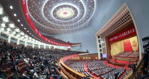 Résztvevõk a Kínai Kommunista Párt XVIII. országos kongresszusának záróülésén a pekingi Nagy Népi Csarnokban 2012. november 14-én. (MTI/EPA/Diego Azubel)